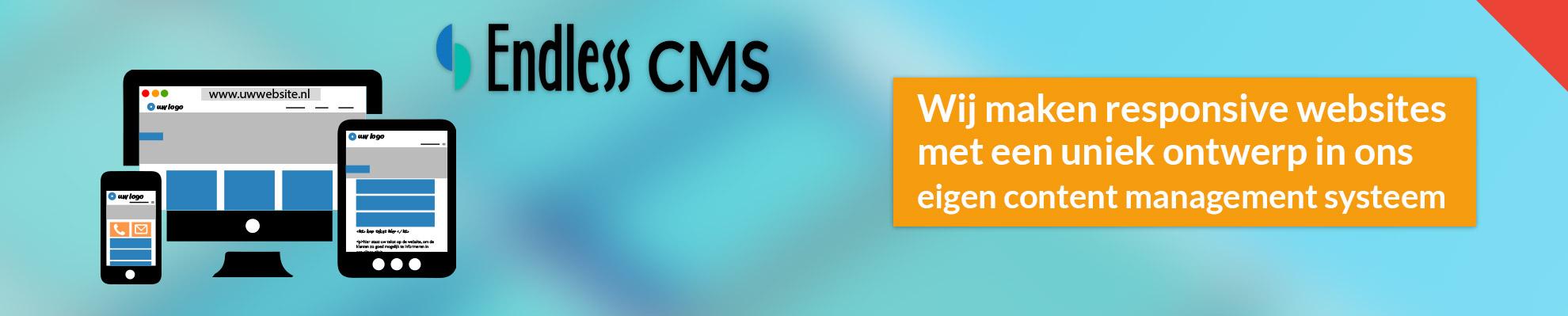 Responsive website met een uniek ontwerp in ons eigen CMS